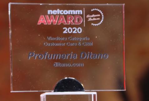 Ditano.com è il miglior ecommerce d'italia nella categoria Customer care e CRM, parola di Netcomm